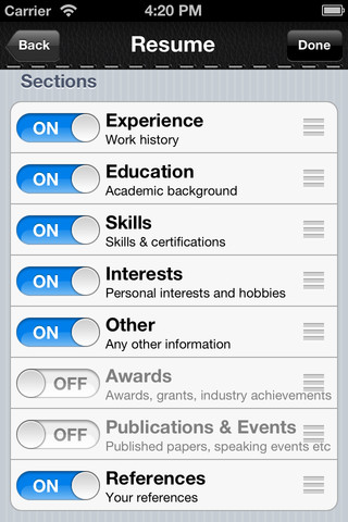 resume builder the quick and easy resume cv maker 1 0 app for ipad