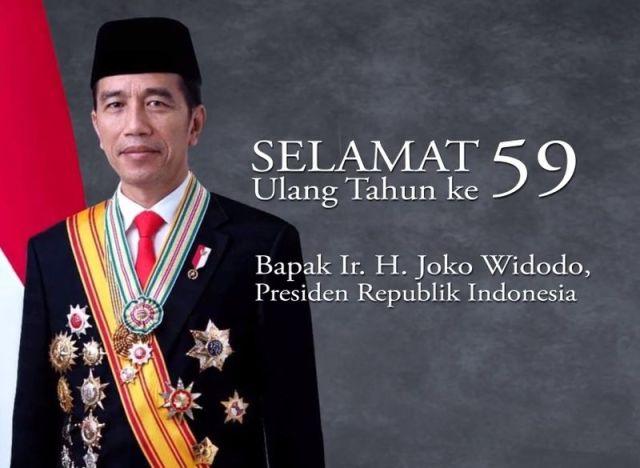 Presiden Jokowi Ulang Tahun ke 59