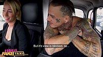 Female Fake Taxi Inked man has beautiful driver randy