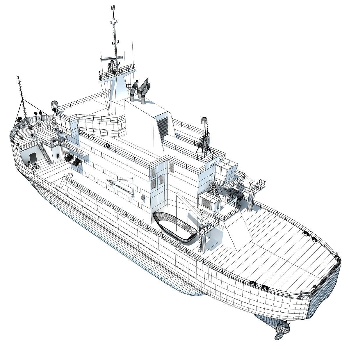 Us Coast Guard Icebreaker Mackinaw 3d Model X Obj 3ds