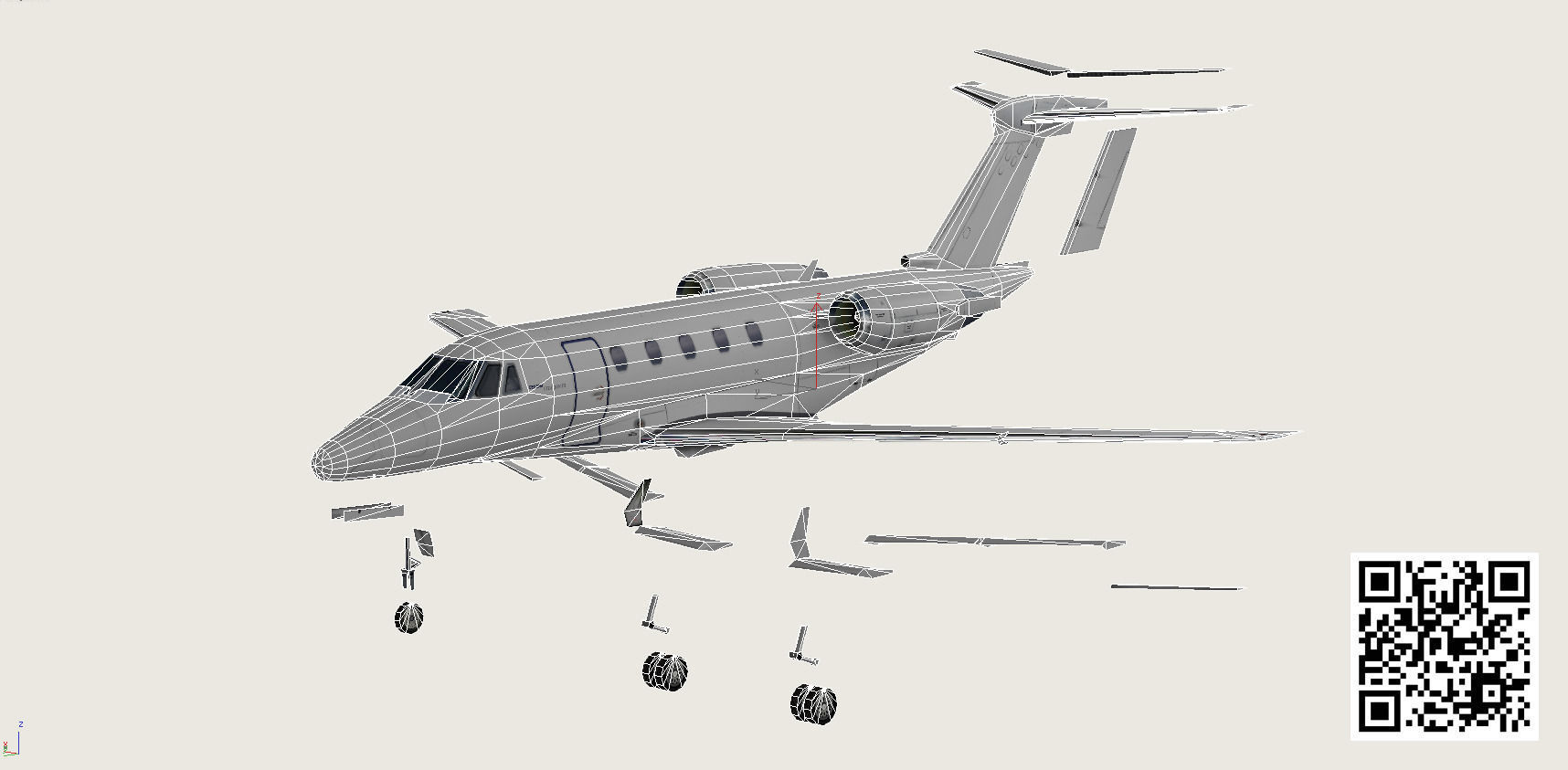 Cessna 650 Citation 3d Model Game Ready Rigged X