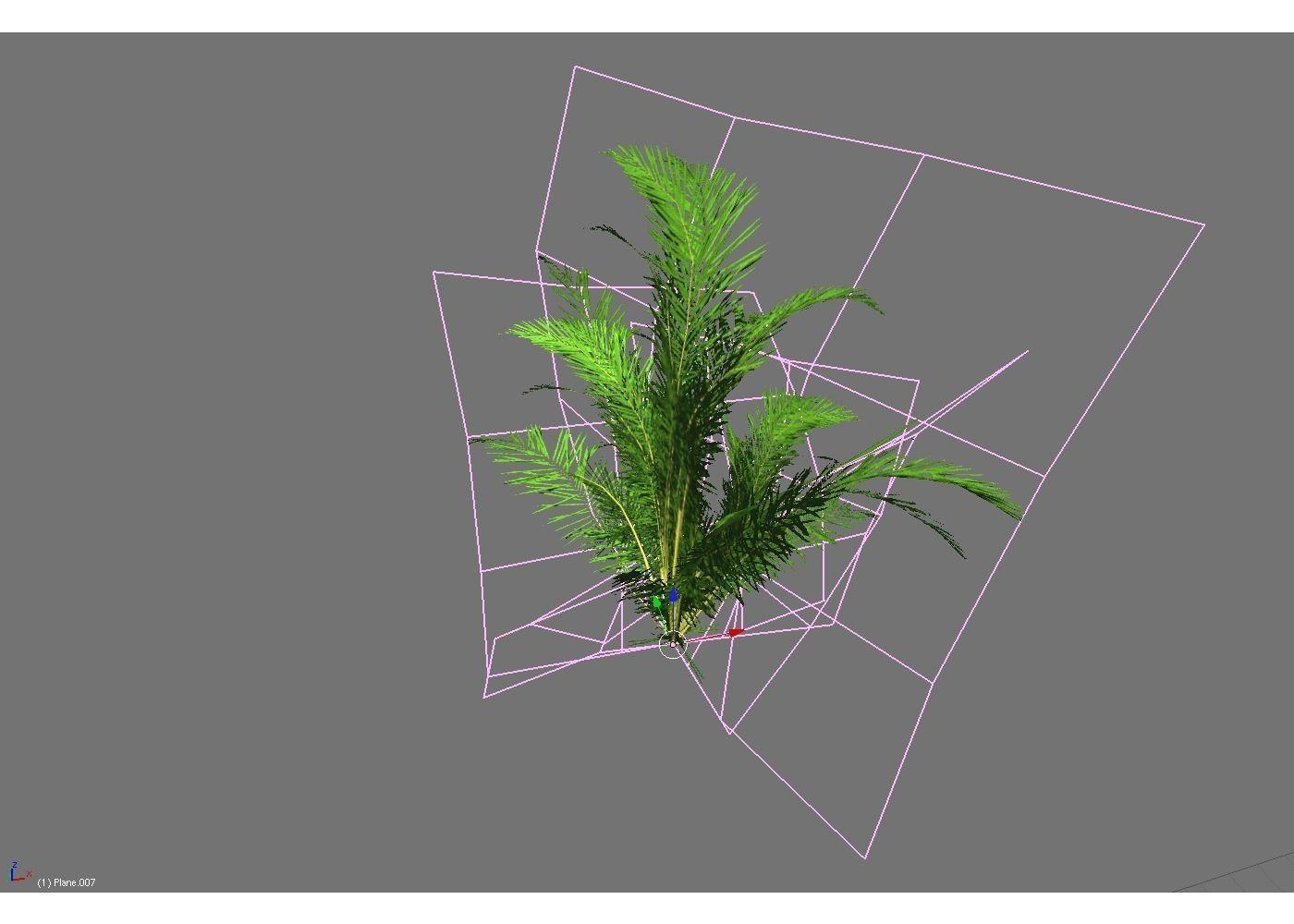 3D Model Low Poly Tropical Shrub VR AR Low Poly OBJ