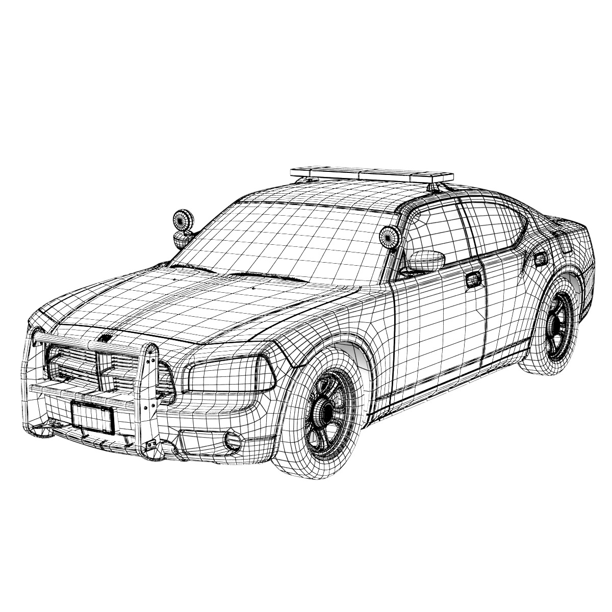 Dodge Charger Police Car 3d Models