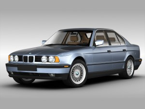 BMW 5 Series E34 3D Model max obj 3ds fbx  CGTrader