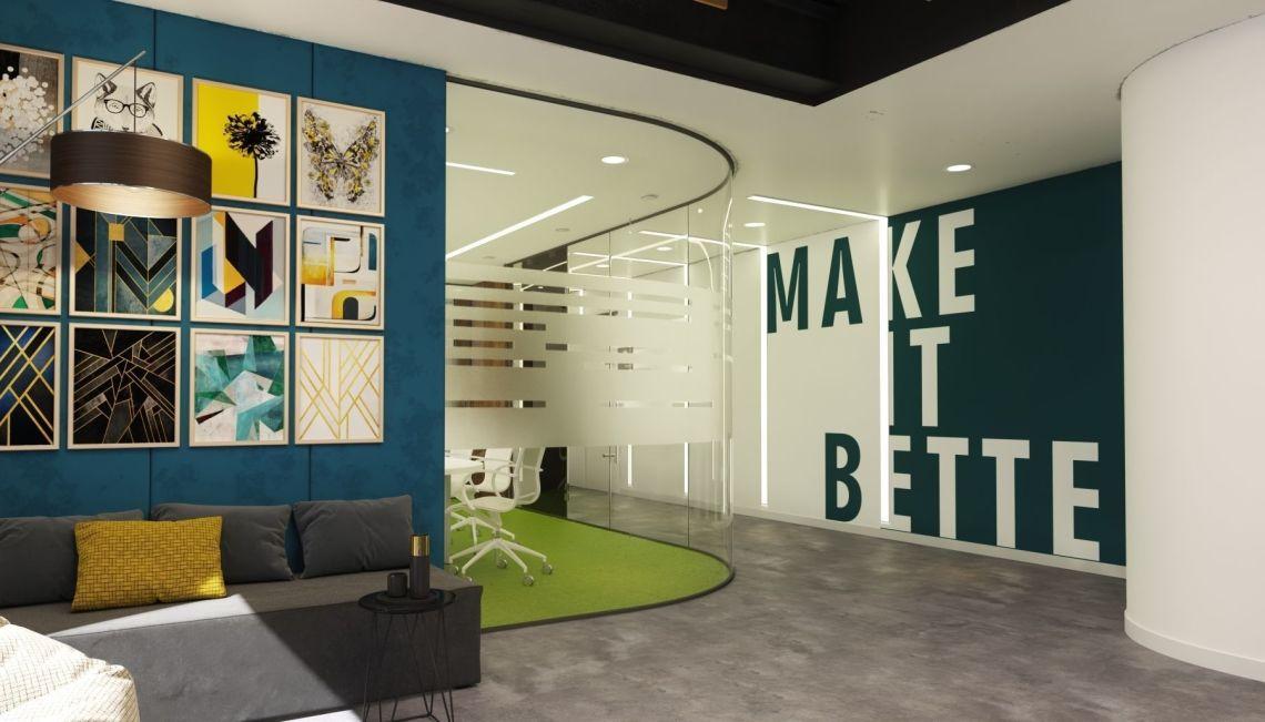 Modern office interior design model 3D | CGTrader