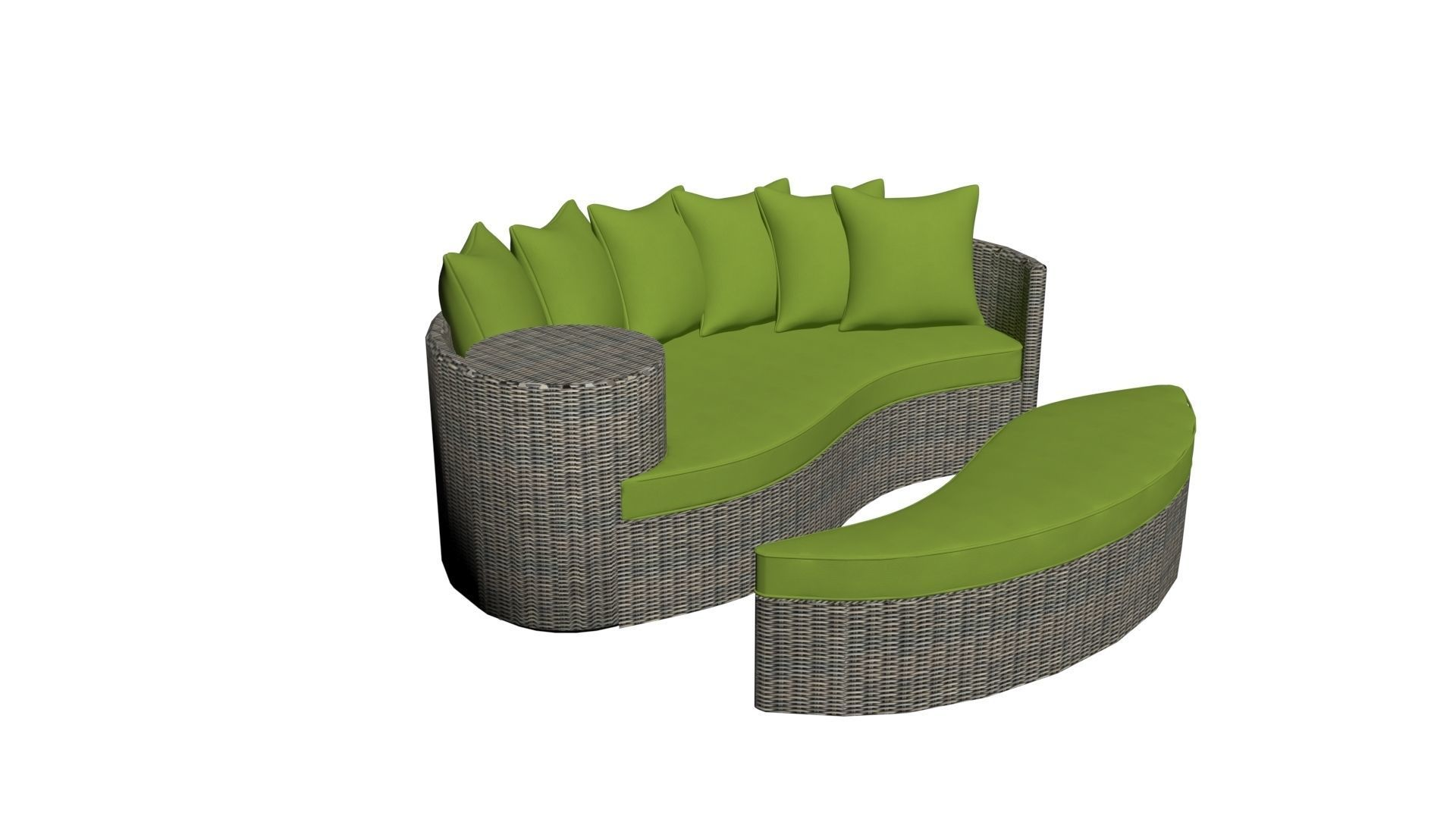 outdoor patio daybed 3d model