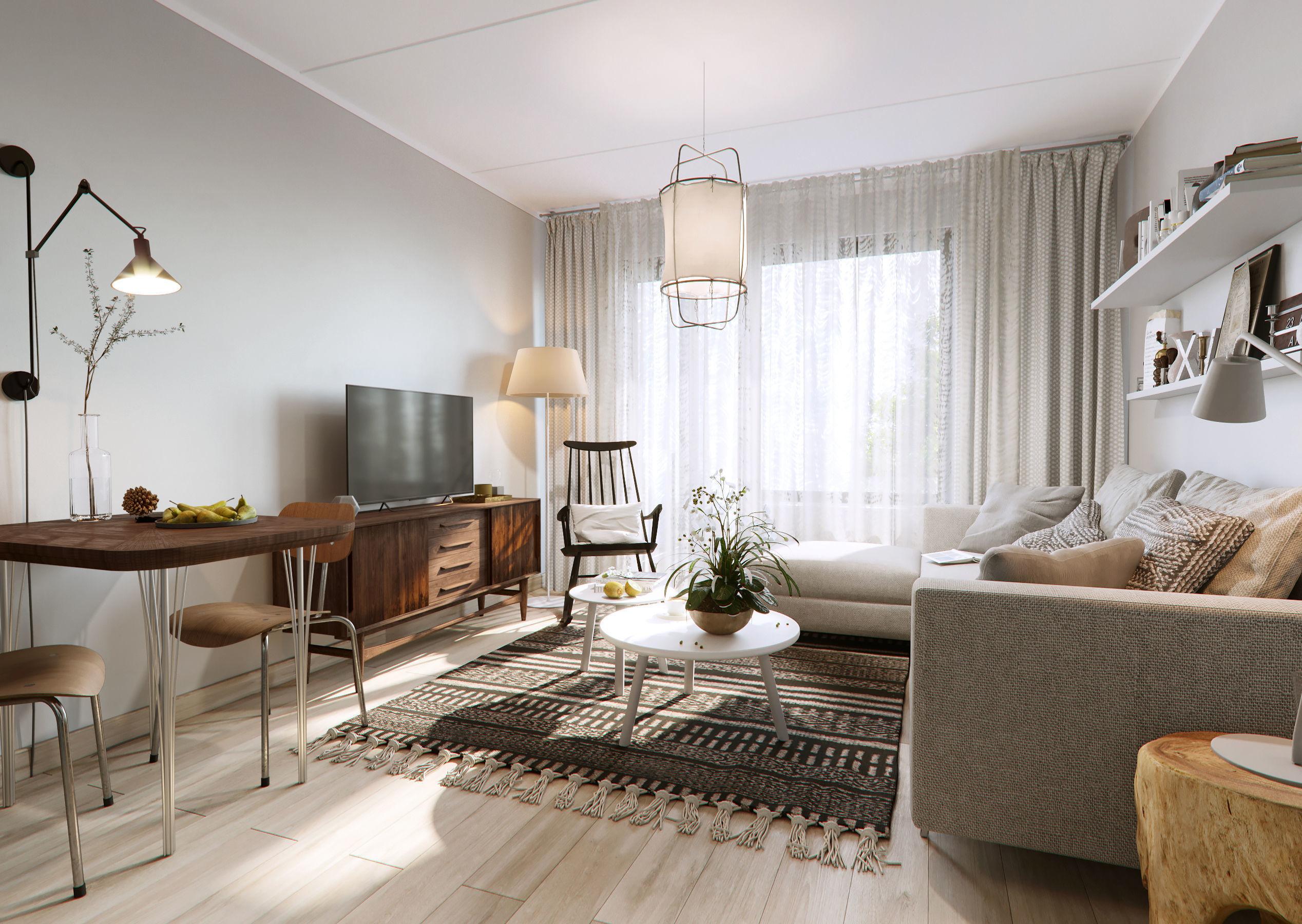 Scandinavian Livingroom 3d Model Max