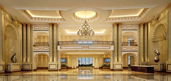 Luxury Lobby 3D Model MAX
