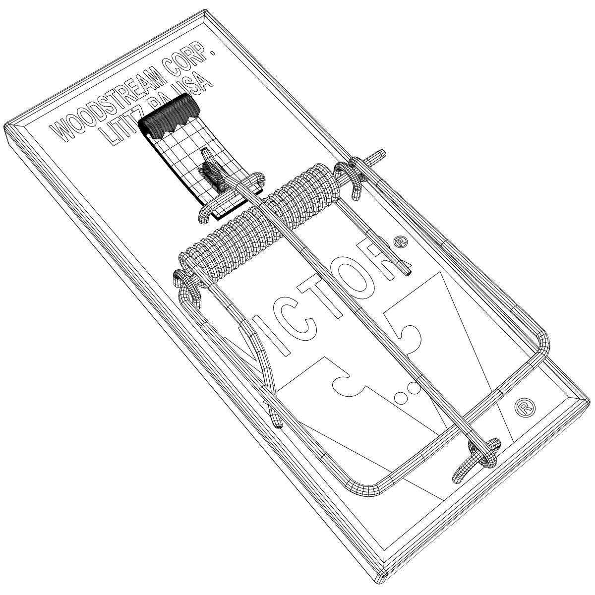 Mouse Trap 3d Model X Obj 3ds Wrl Wrz