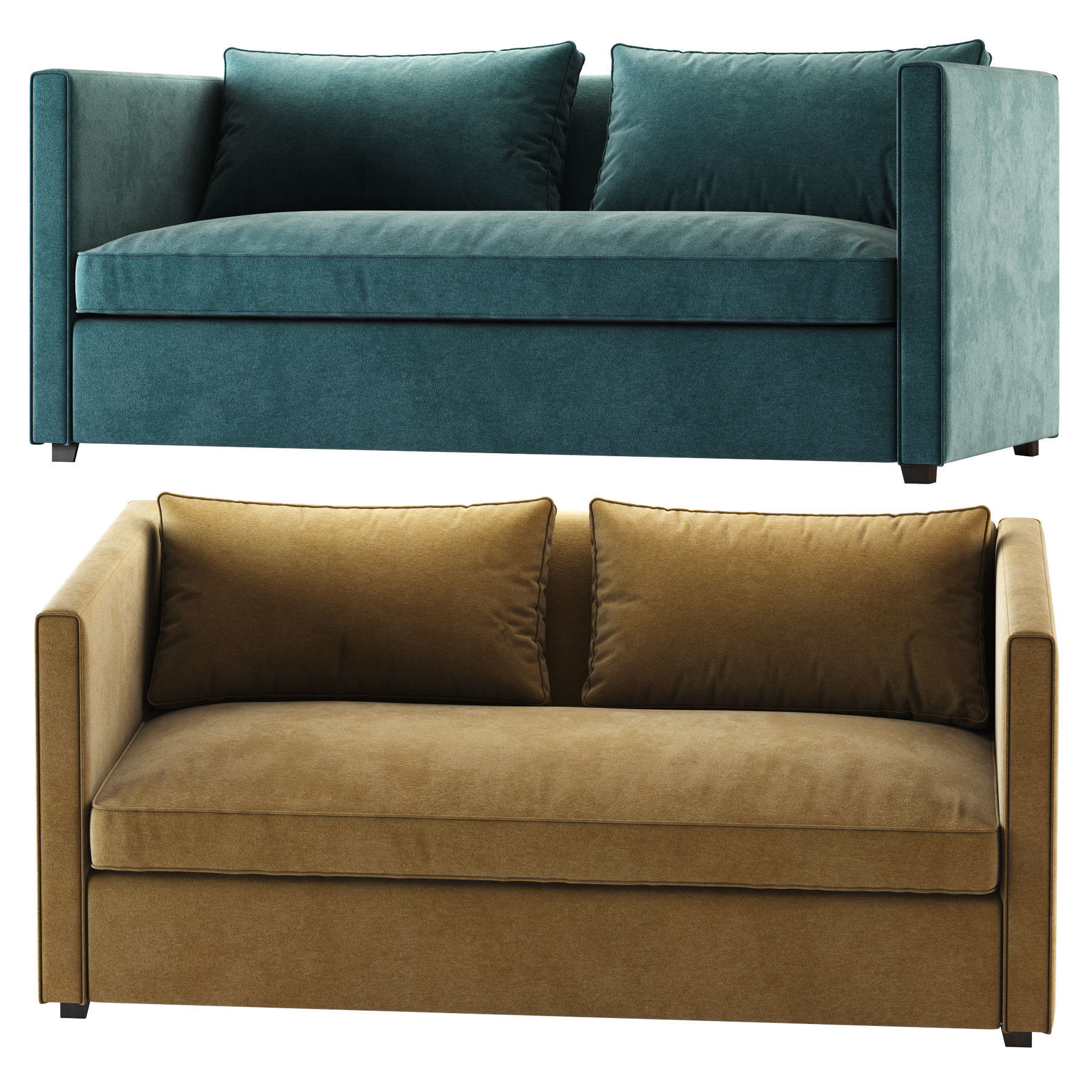 crate and barrel torrey sofa 3d model