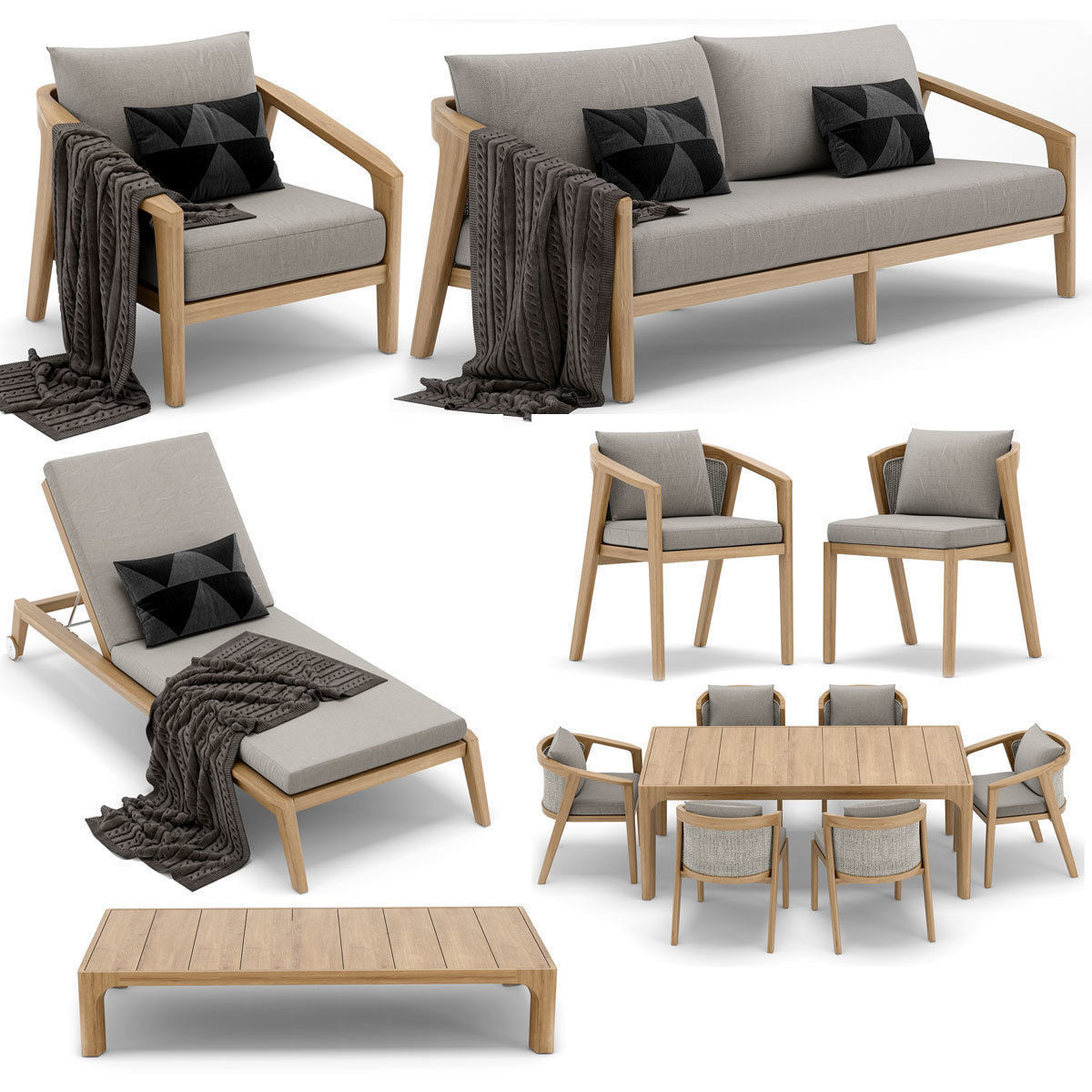 rh outdoor malta collection 3d model