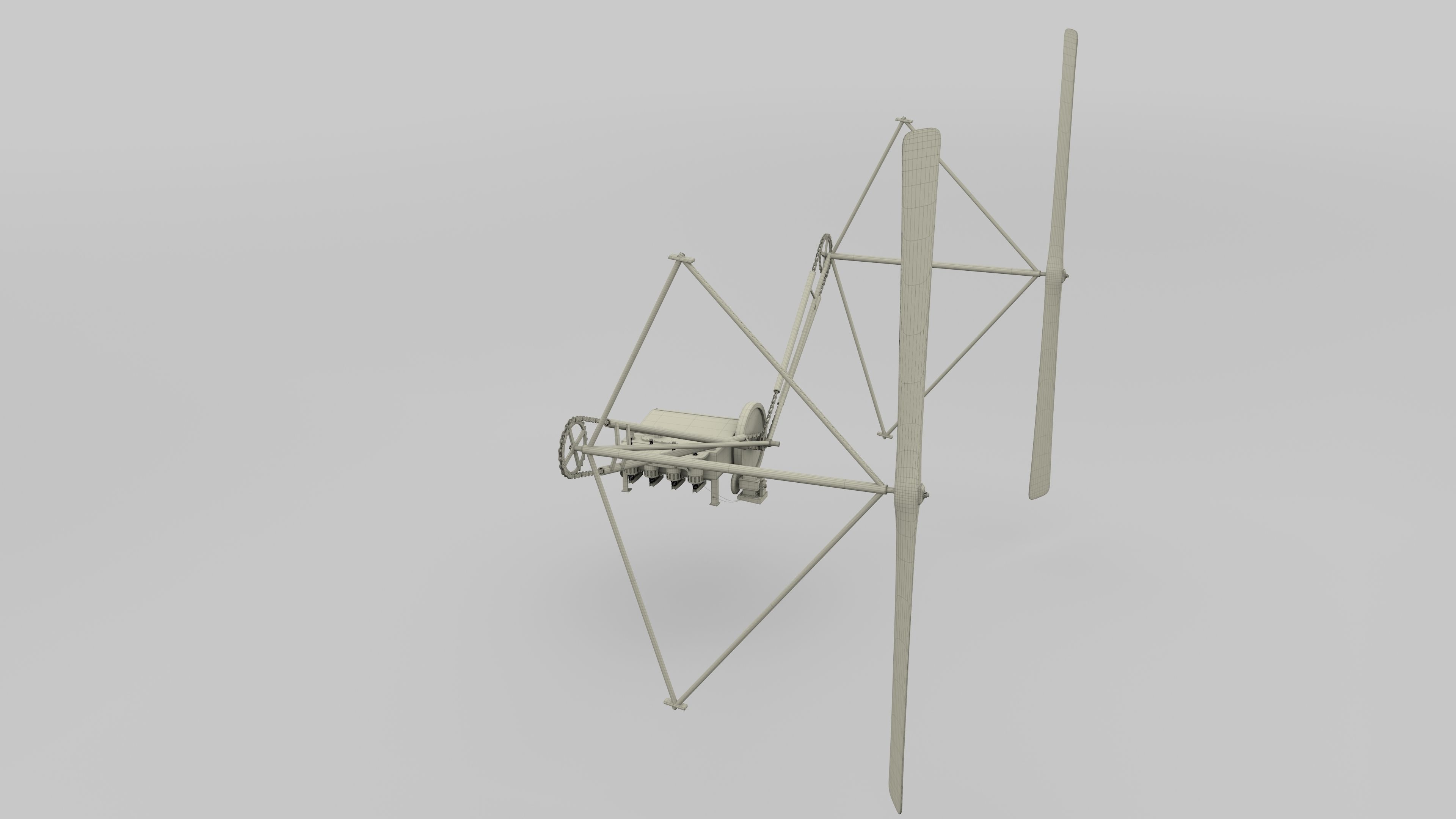 Wright Flyer Propulsion Animated 3d Model Animated Rigged