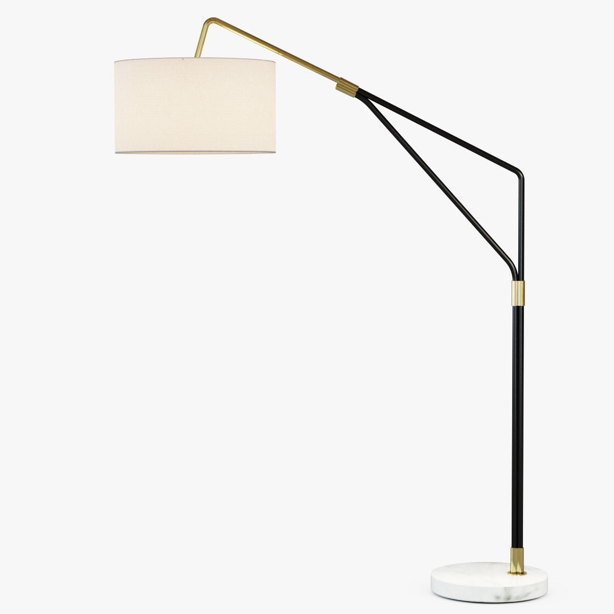 Mid Century Overarching Floor Lamp 3d Model