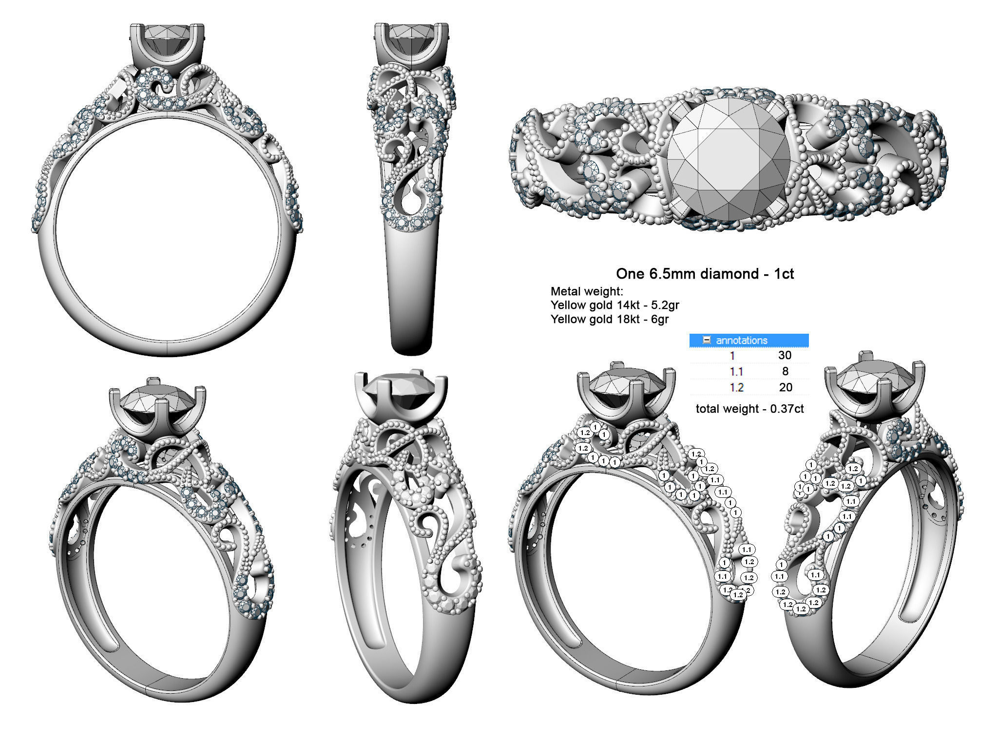 Enchanted Engagement Ring 3d Model 3d Printable Stl 3dm