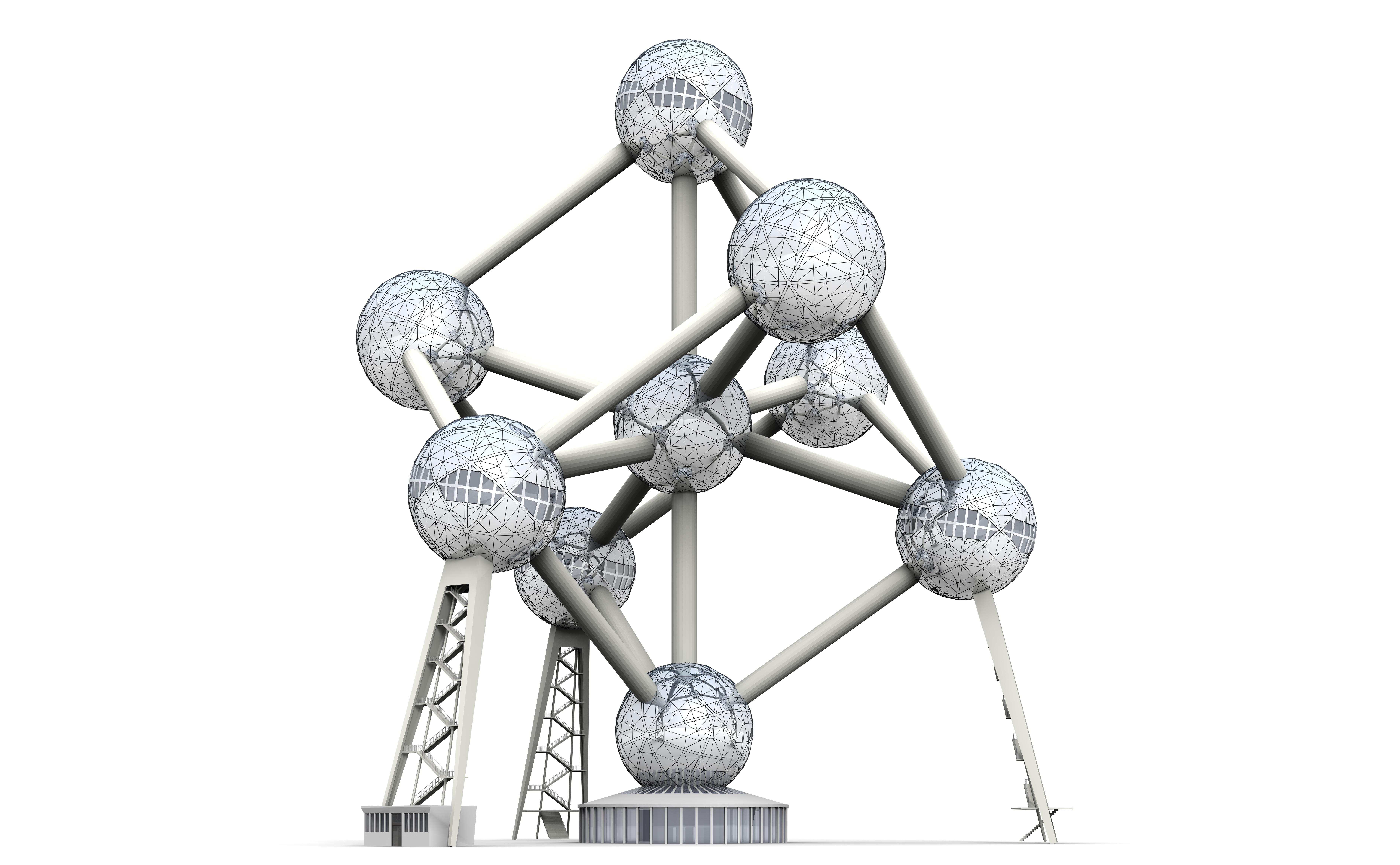 Atomium 3d Model Max 3ds C4d Dae Skp