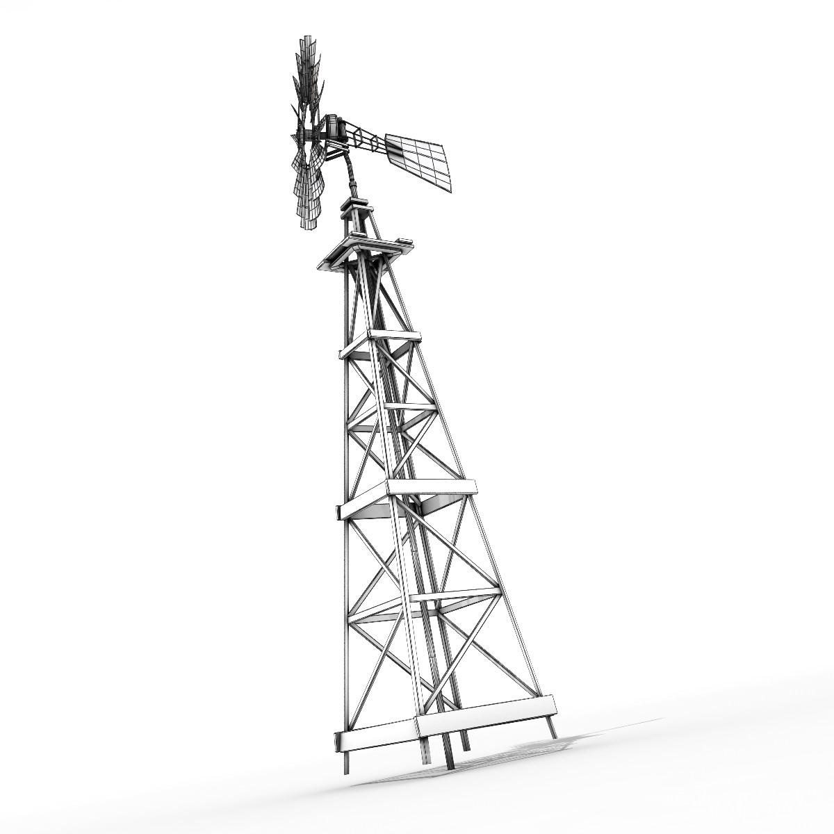 3d Model Windmill Vr Ar Low Poly Max Obj Fbx Lwo Lw