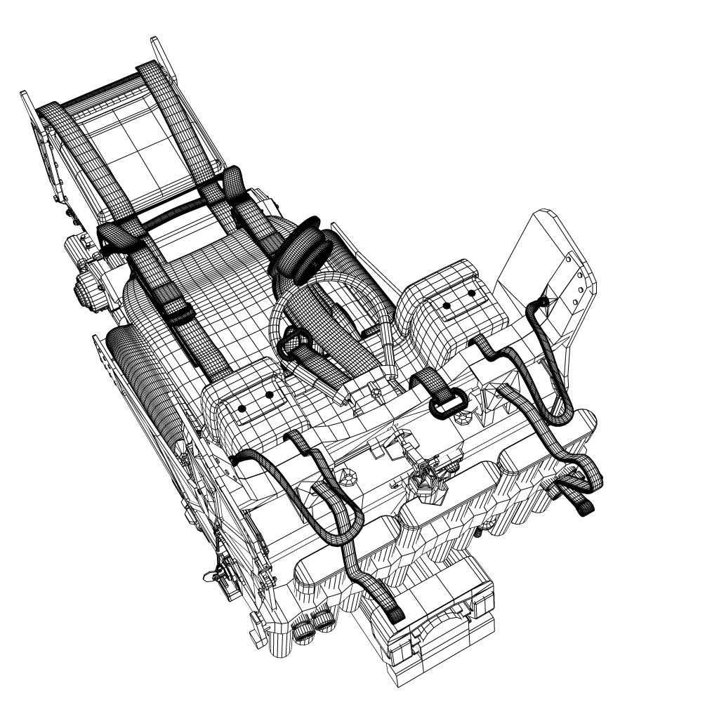 Martin Baker Mk10 Ejection Seat 3d Model