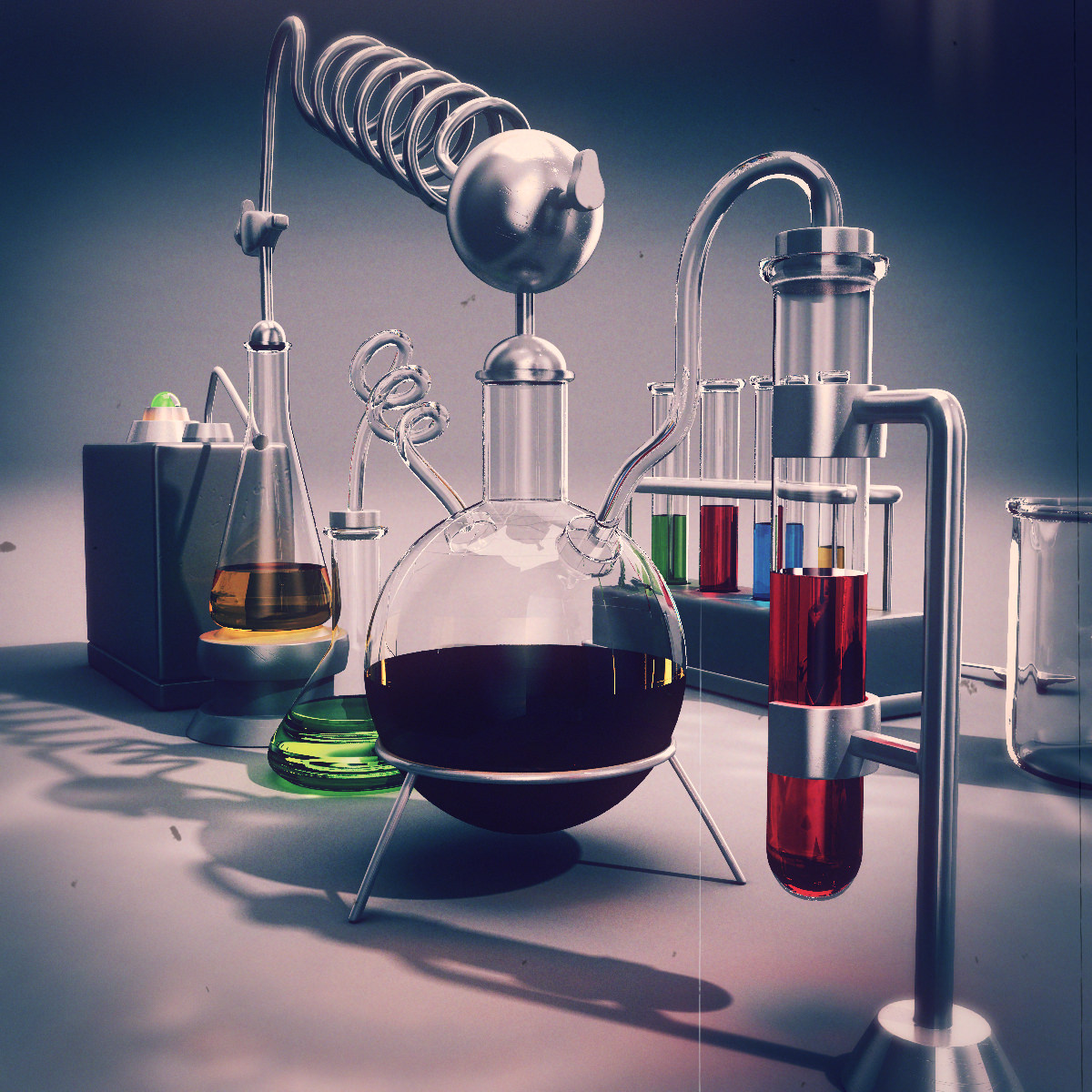 Chemistry Equipment 3d Model X Obj Fbx Lwo Lw Lws