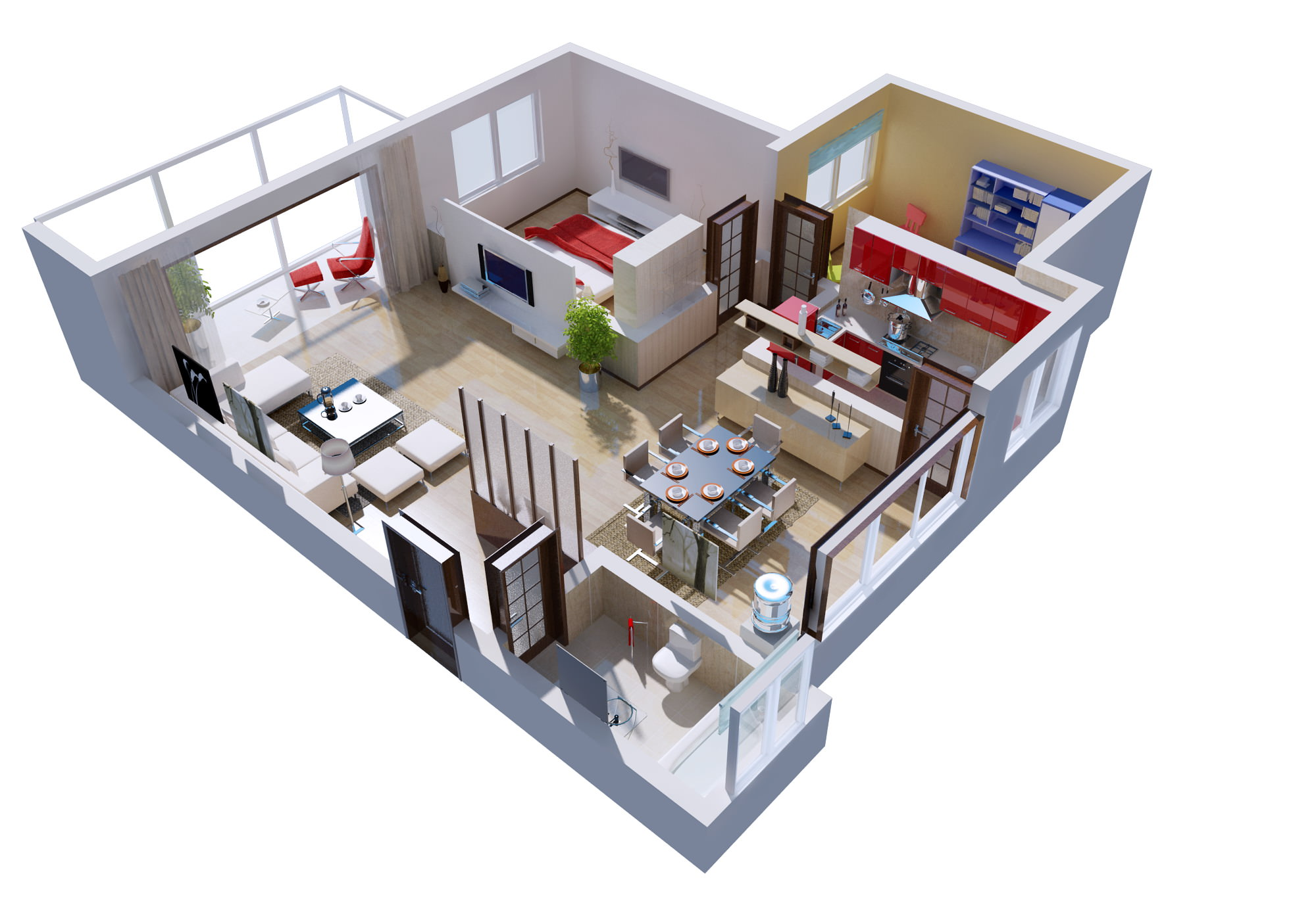 Best Kitchen Gallery: Posh House Interior 3d Cgtrader of 3d Model Home Design on rachelxblog.com