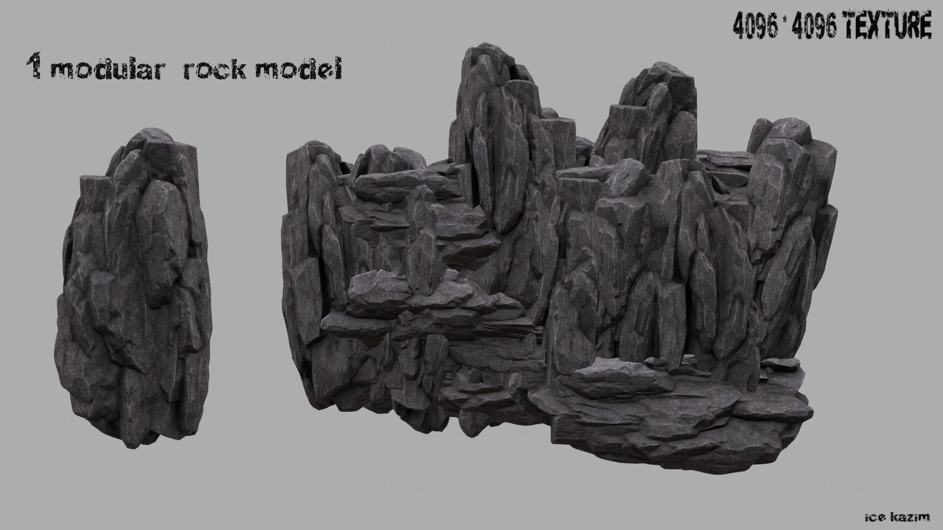 mountain rock 3d asset | cgtrader