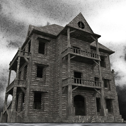 Old Abandoned House 3D Asset CGTrader