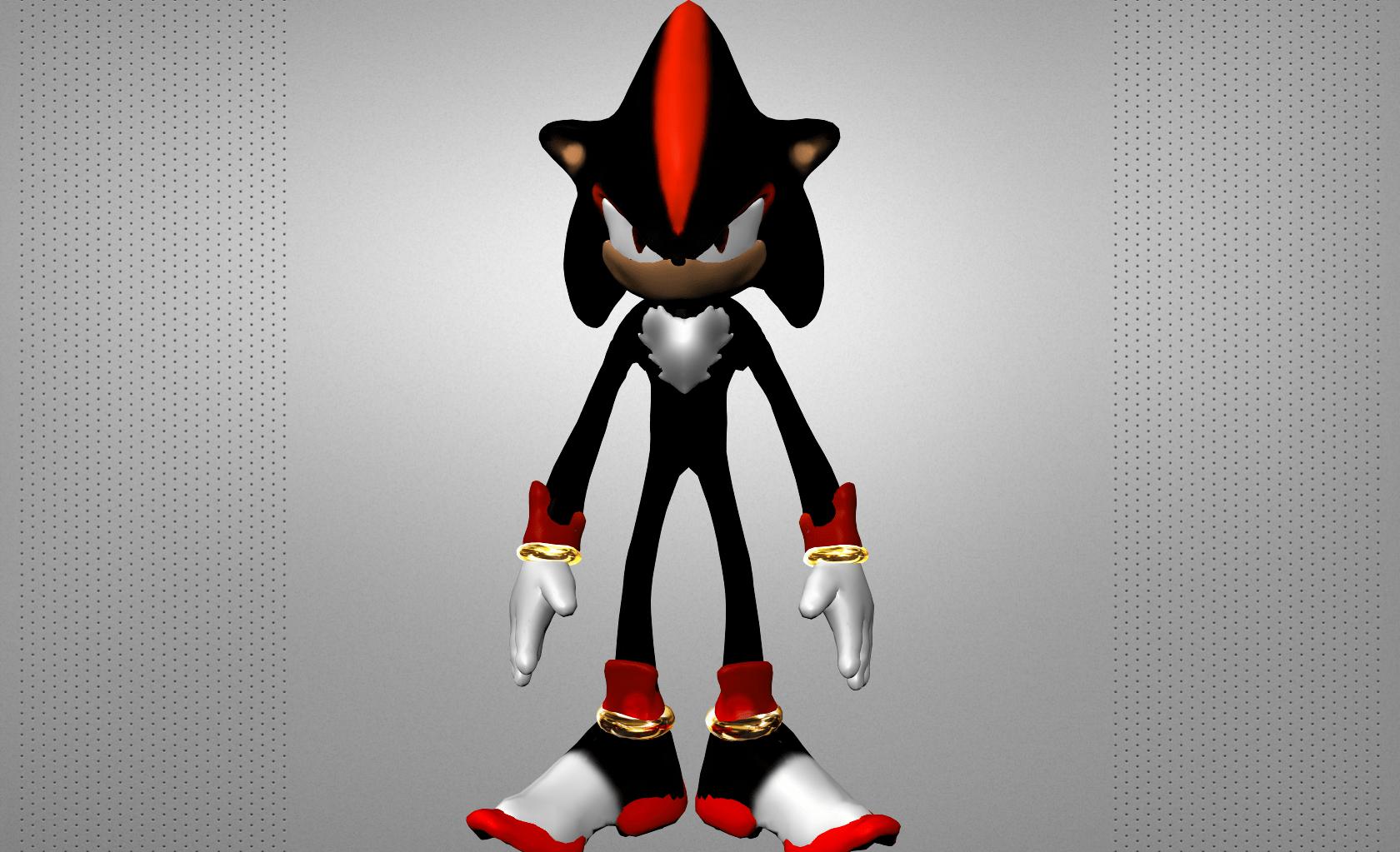 Shadow The Hedgehog 3D Model Game Ready Obj