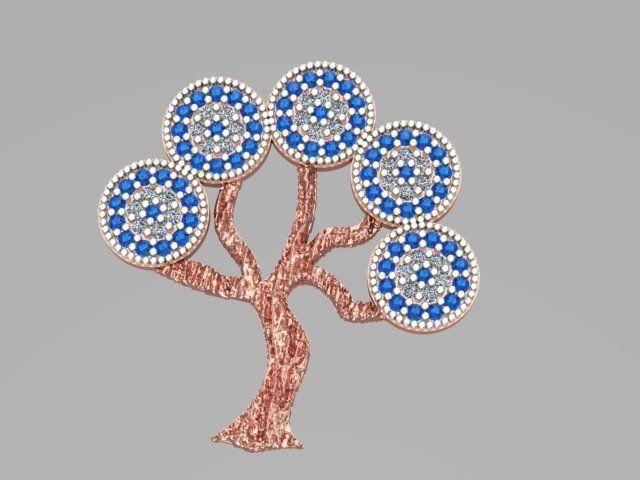 Tree Of Life Pendant 50 3D Model 3D Printable STL
