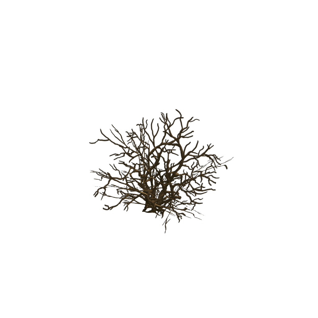 Low Poly Dead Tree Set 3d Model Game Ready Mb