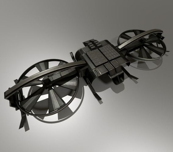 3D Asset Controllable Drone Design CGTrader
