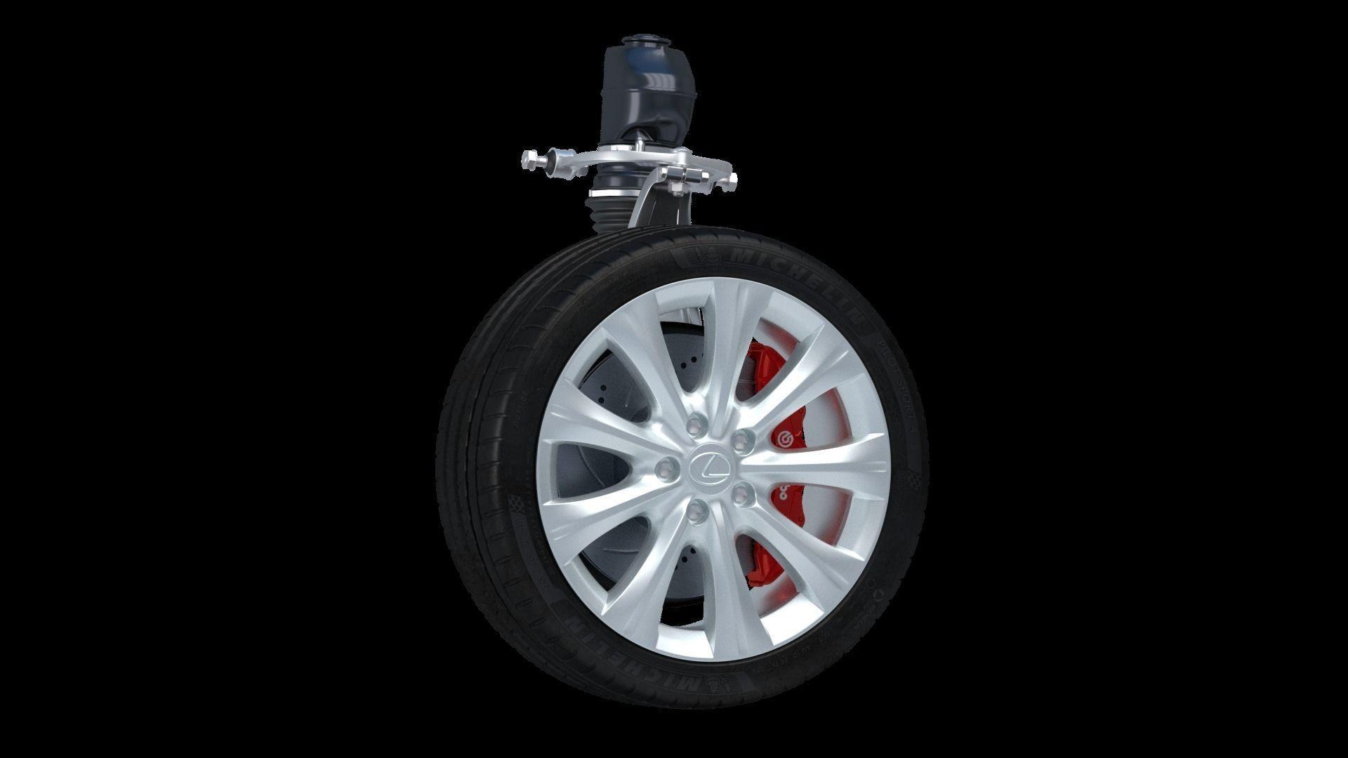 Car Wheel Lexus 3D