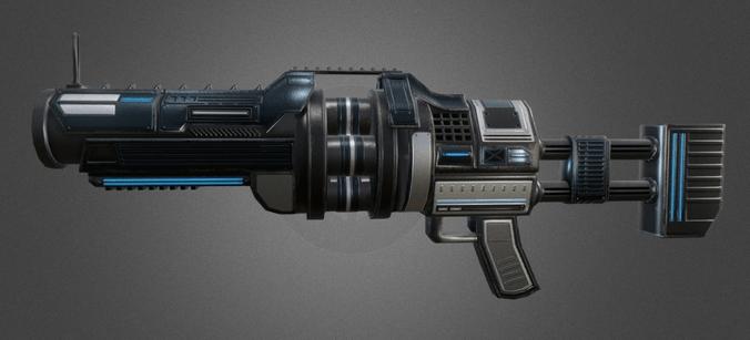 3D Asset Futuristic Grenade Launcher CGTrader
