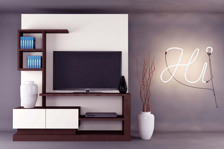 3d Model Modern Tv Unit Design Cgtrader