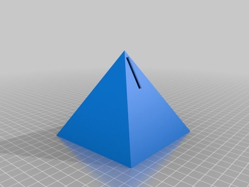 Pyramid Piggy Bank Free 3D Model 3D Printable Stl