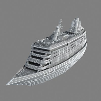 Cruise Ship 3D Model MAX - CGTrader.com