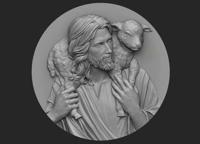 Medallion Of Jesus No 3 3D Printable Model CGTrader