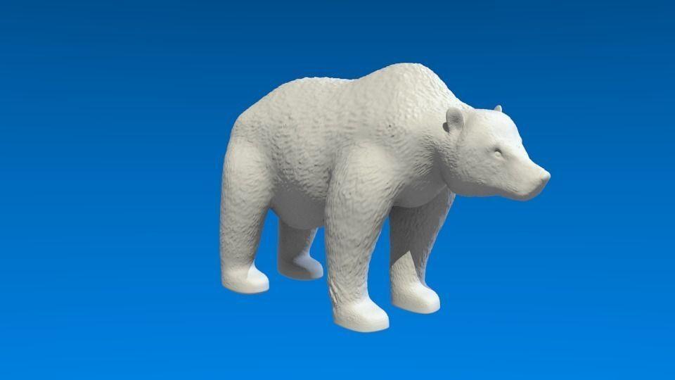 Grizzly Bear 3D Model 3D Printable Obj 3ds Stl Blend