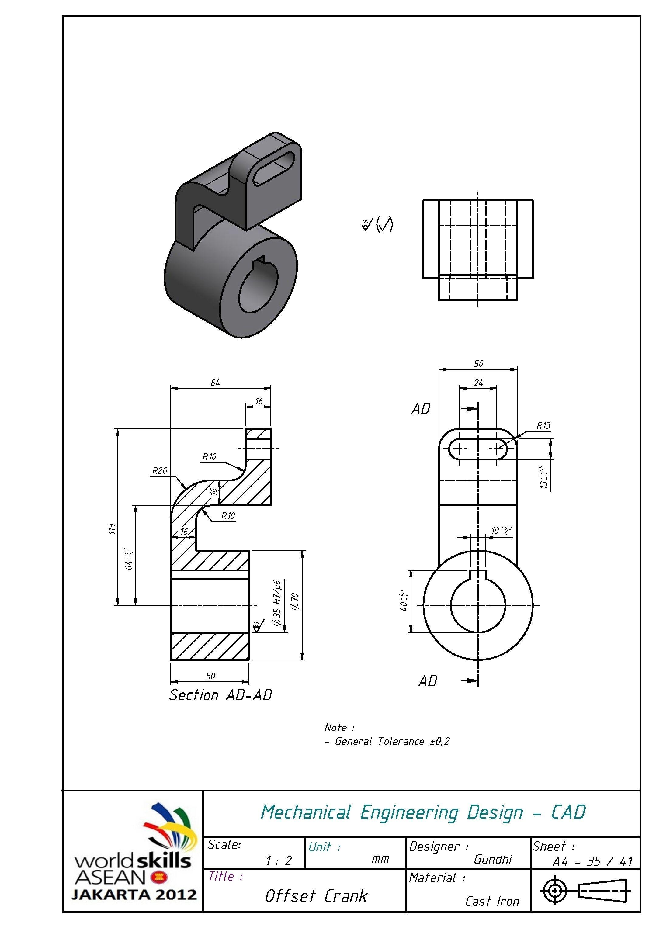 Offset Crank Free 3d Model L