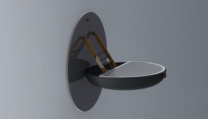 Wall Mounted Grill Free 3D Model STL SLDPRT SLDASM SLDDRW