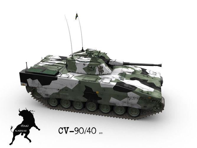 Stridsfordon 90 Or CV 90 IFV 3D Model MAX OBJ FBX