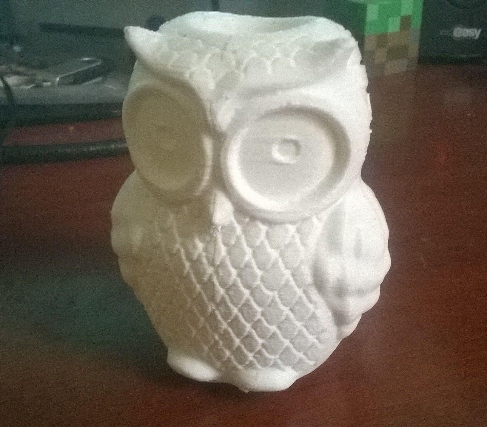 3d Print Model Owl Vase Cgtrader