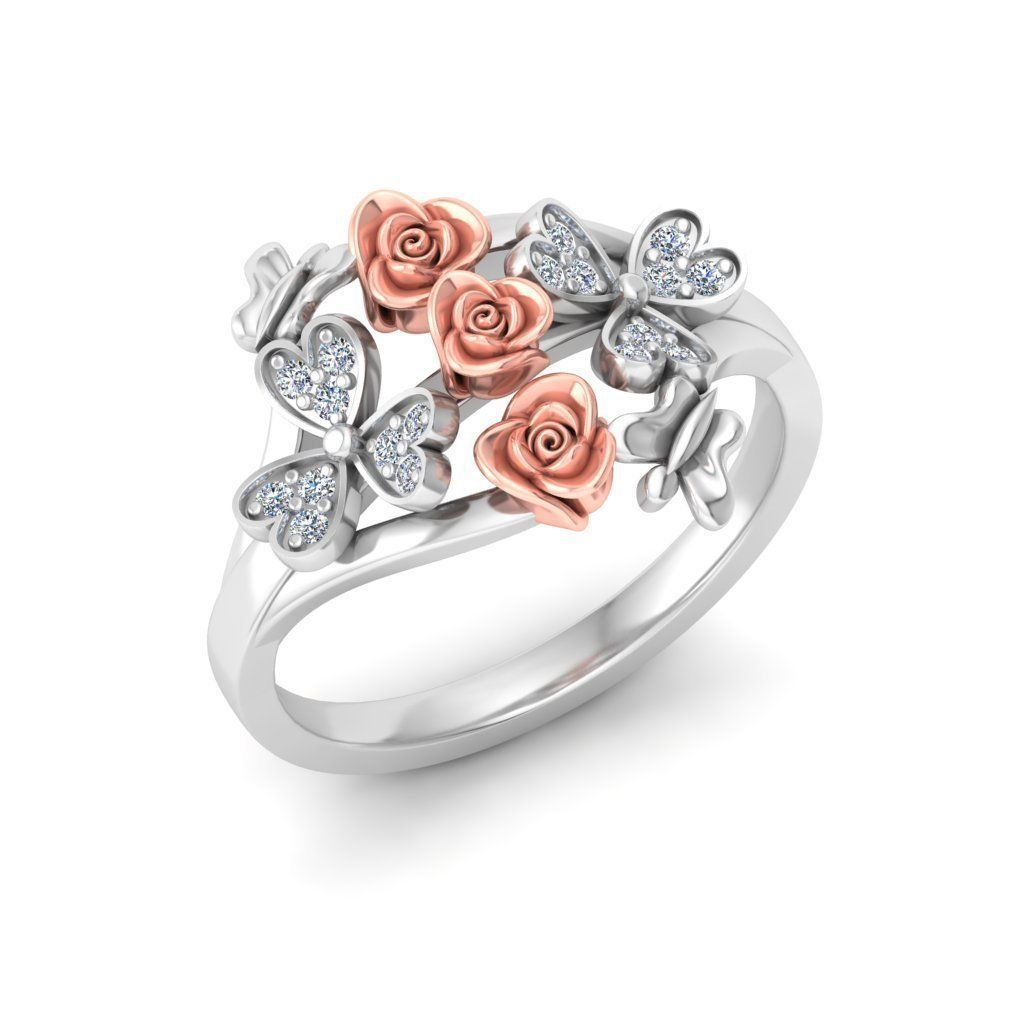 Rose Ring7 3d Model 3d Printable Stl