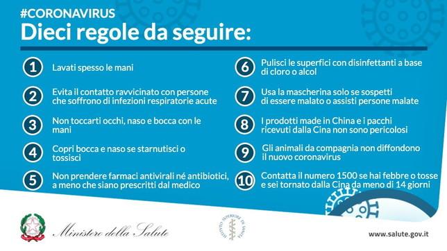 Risultato immagini per regole coronavirus