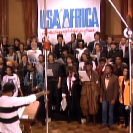 """""""We Are The World"""", 35 years ago the greats of American music held out their hand to Africa"""