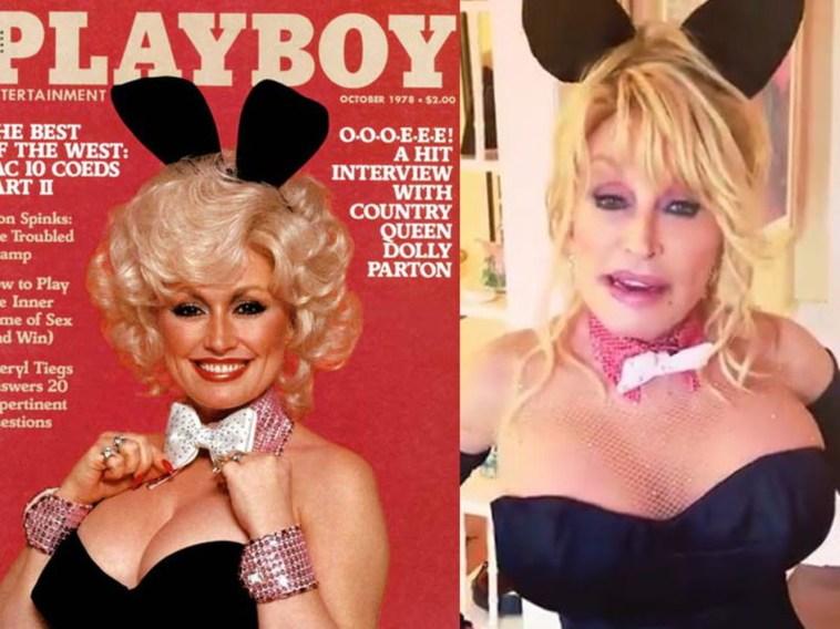 """Dolly Parton rientra nelle vesti di coniglietta di """"Playboy"""" per fare un regalo al marito"""