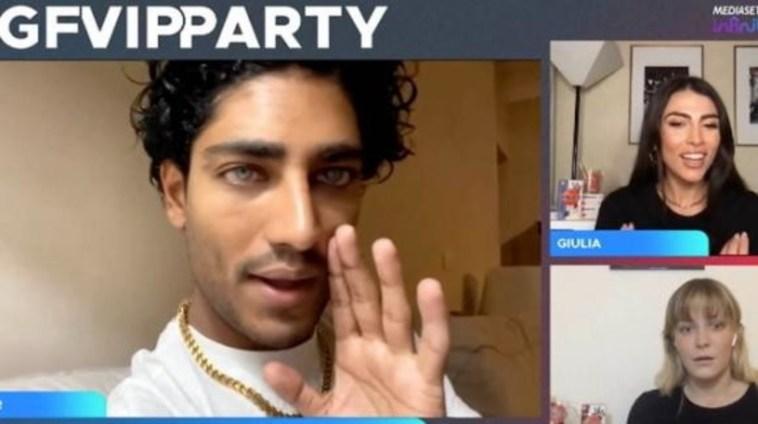 """""""Grande Fratello Vip Party"""", Akash Kumarinsulta Gaia Zorzi: """"Dici ca***te, non se neanche chi sei"""""""