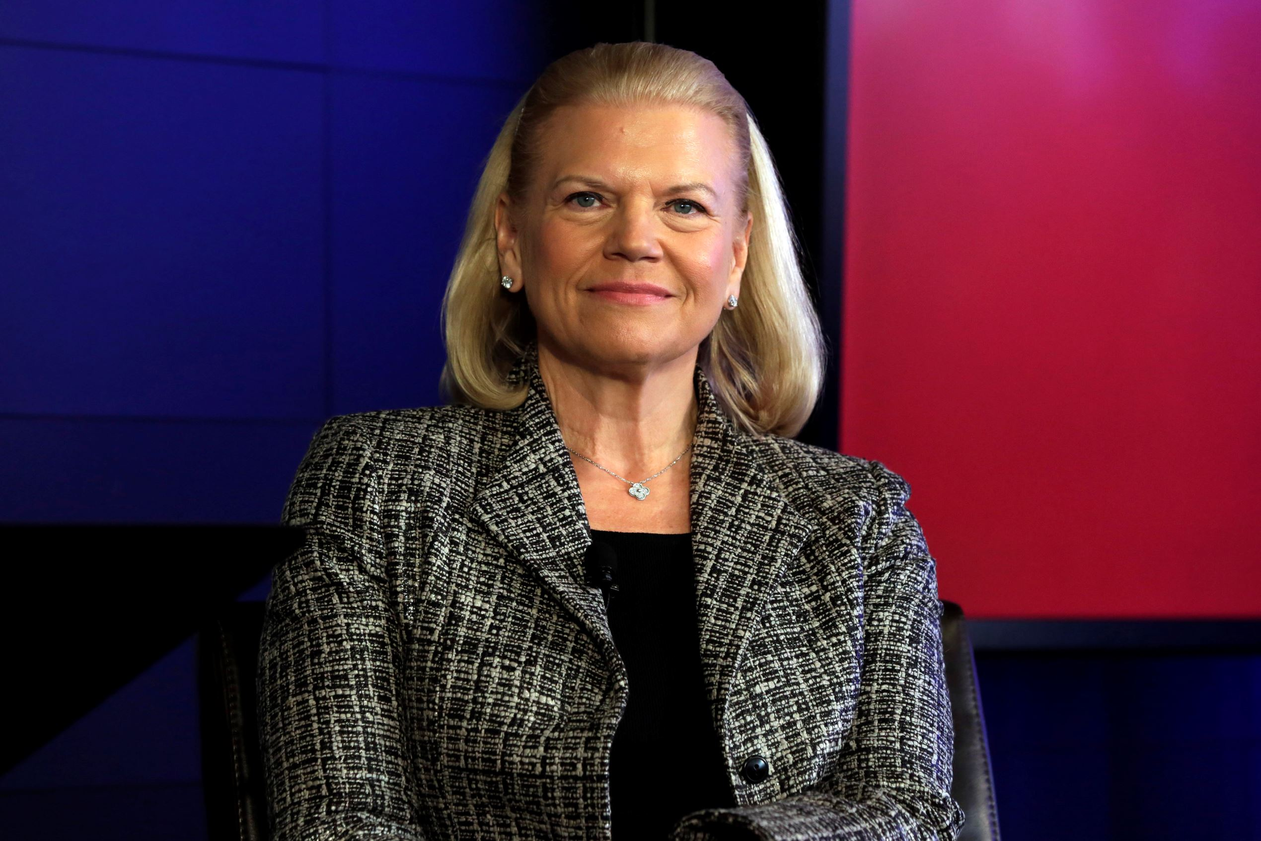 IBM CEO Ginni Rometty at a news conference in New York, in April.