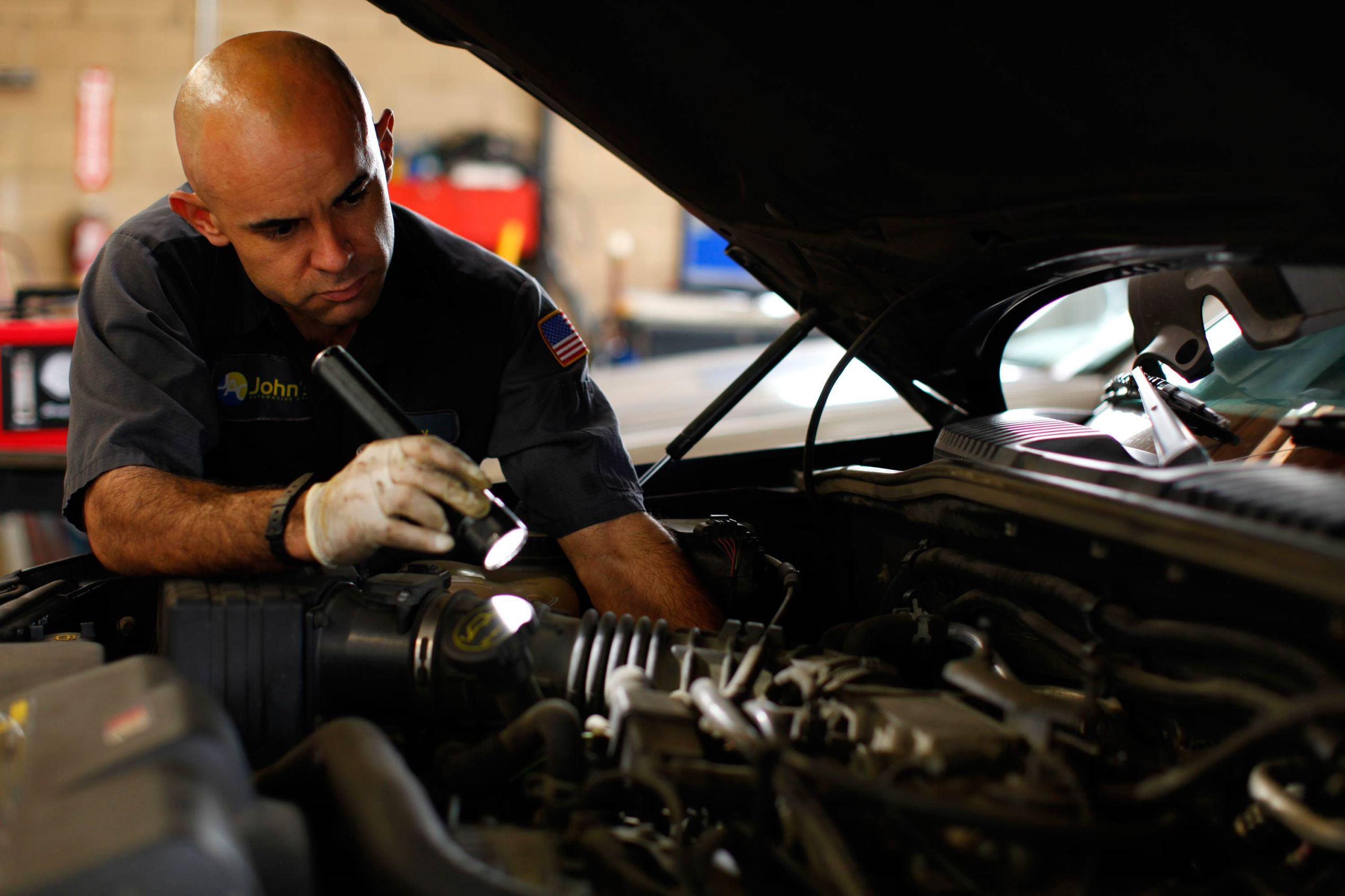 A car mechanic in San Diego, California.