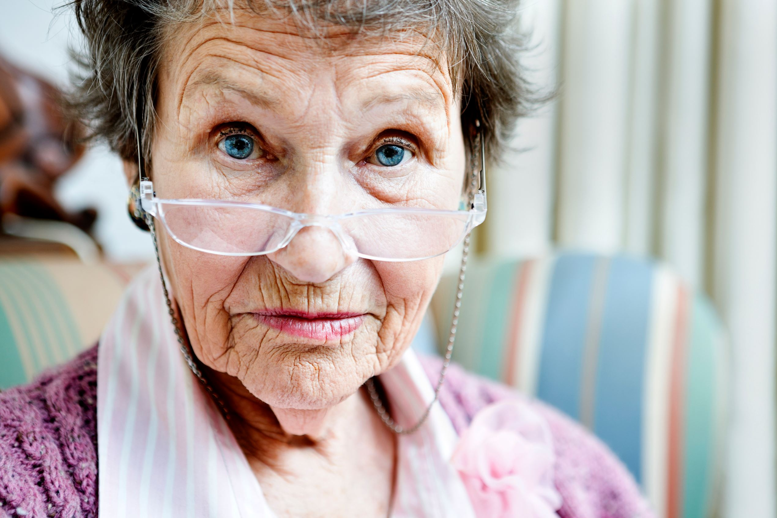 Serious older woman.