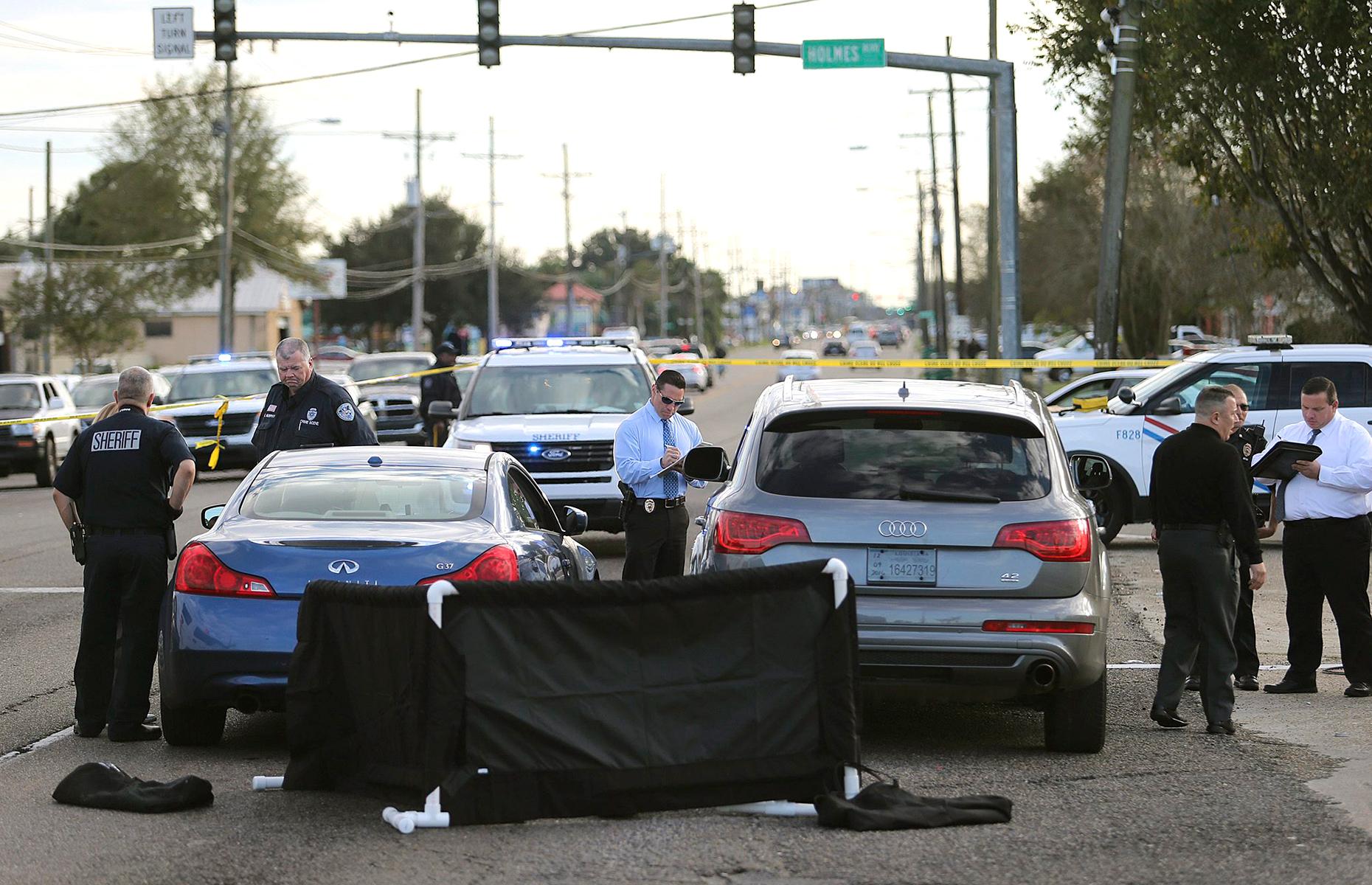 La scène du crime à Terrytown, en Louisiane, le 1er décembre 2016.