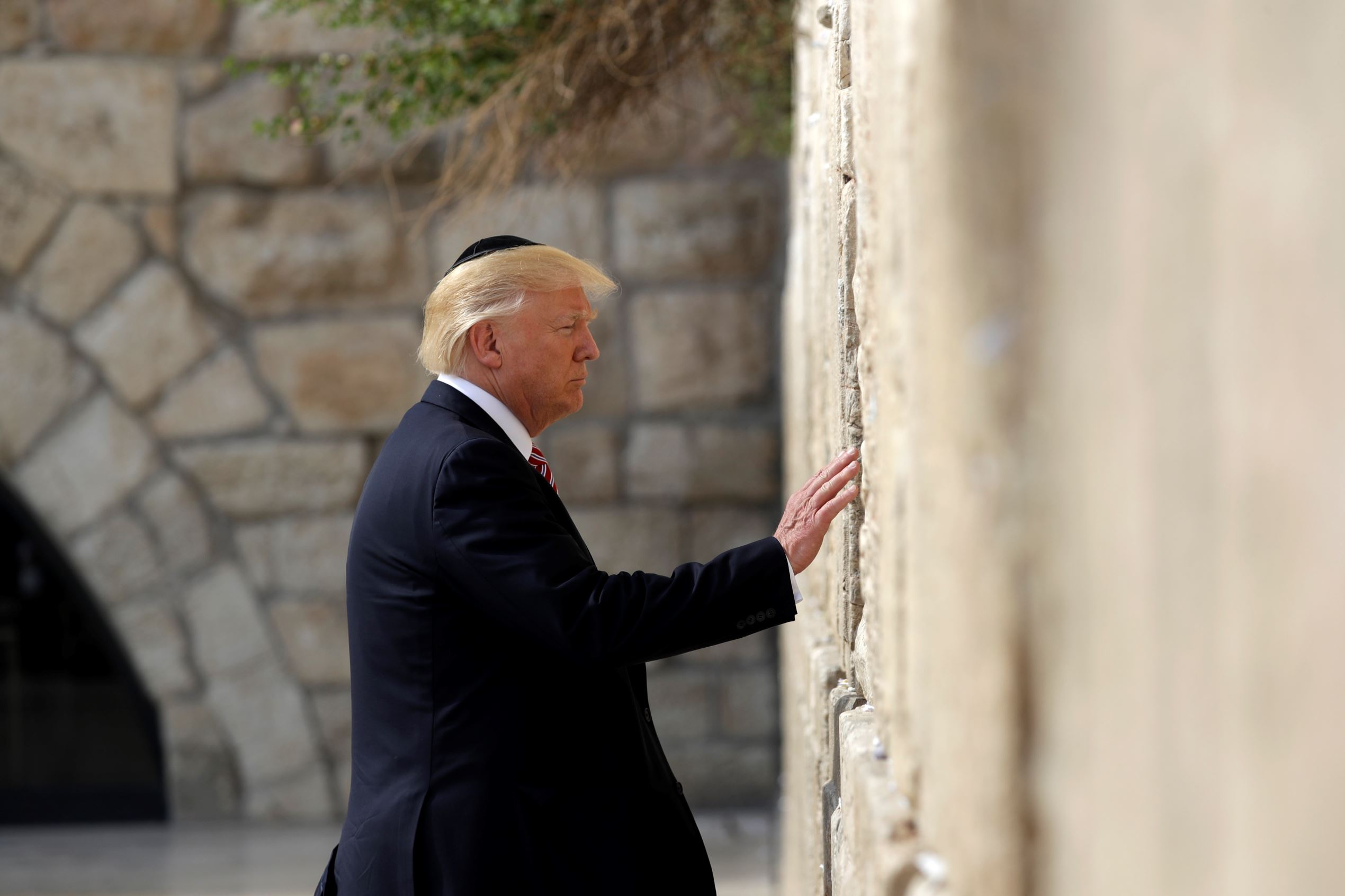 Slide 1 of 51: President Trump visits the Western Wall on May 22 in Jerusalem.
